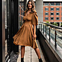 Verity Midi Dress In Camel Eco Tencel image