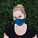 Women'S Silk & Cotton Reversible Face Mask - Deco Waves image