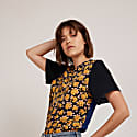 Prairie Silk Tee With Mixed Floral Prints image