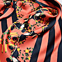 Burmese Toucan Salmon Long Silk Scarf image