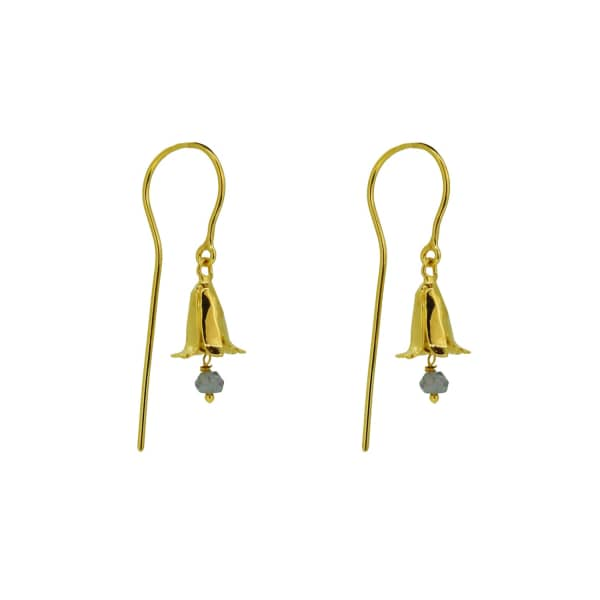 YVONNE HENDERSON JEWELLERY Bluebell Drop Earrings With Iolite