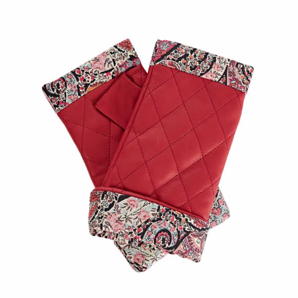 Page Fucshia Pink Leather Gloves With BB Liberty Tana Lawn