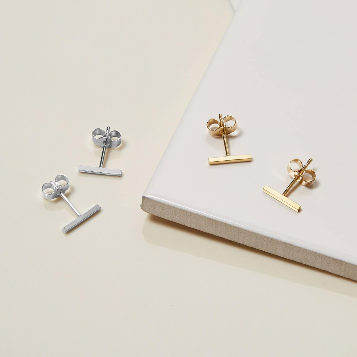 for stud bar fullxfull il earrings line gift listing minimalist solid gold staple her unisex