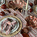 Red Stem Linen Table Cloth 380 image