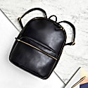 Luxe Black Leather Backpack image