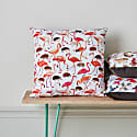 Flamingo & Hedgehog Cushion image