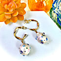 Baroque Pearl Decorated With Turkish Evil Eyes Earrings image