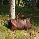 Genuine Leather Holdall In Vintage Brown image