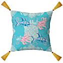 The Fish Organic Cotton Cushion 45 Square Blue image