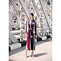 Laura Dress Navy Stripe image