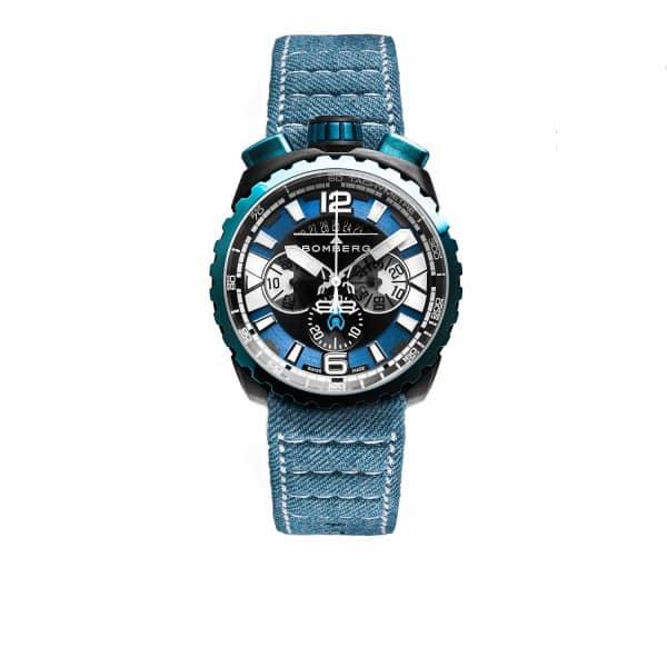 BOMBERG WATCHES Bolt Chronograph Blue Denim 050-3.3