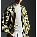 Yukata Shirt Yellow White & Black. image
