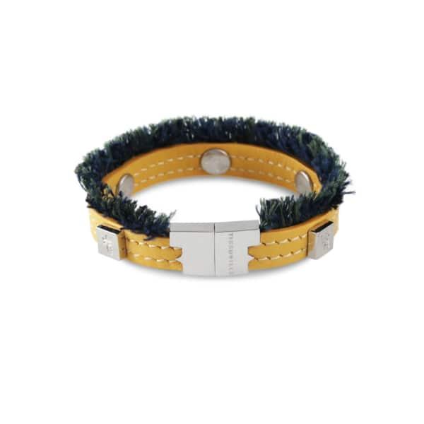 TISSUVILLE Flik Mini Bracelet Custard Silver