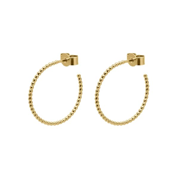 MYIA BONNER Gold Medium Ball Hoop Earrings