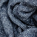 Recycled Wool Blanket In Navy Herringbone image