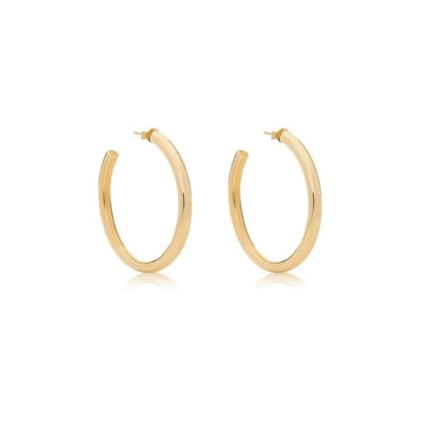 EDGE OF EMBER Mini Tube Gold Hoops