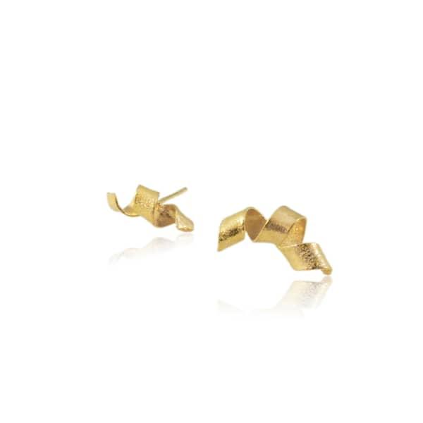 KAROLINA BIK JEWELLERY Algae Spiral Earrings Gold