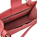 Mini Leather Crossbody Bag - Pink image