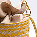 Gold Macaw Straw Bucket Bag Yellow image