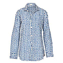 Mens St Tropez Cotton Shirt Royal Blue & White image