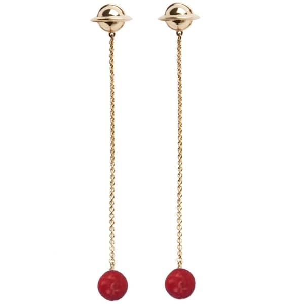 ESHVI Galaxy Red Earrings