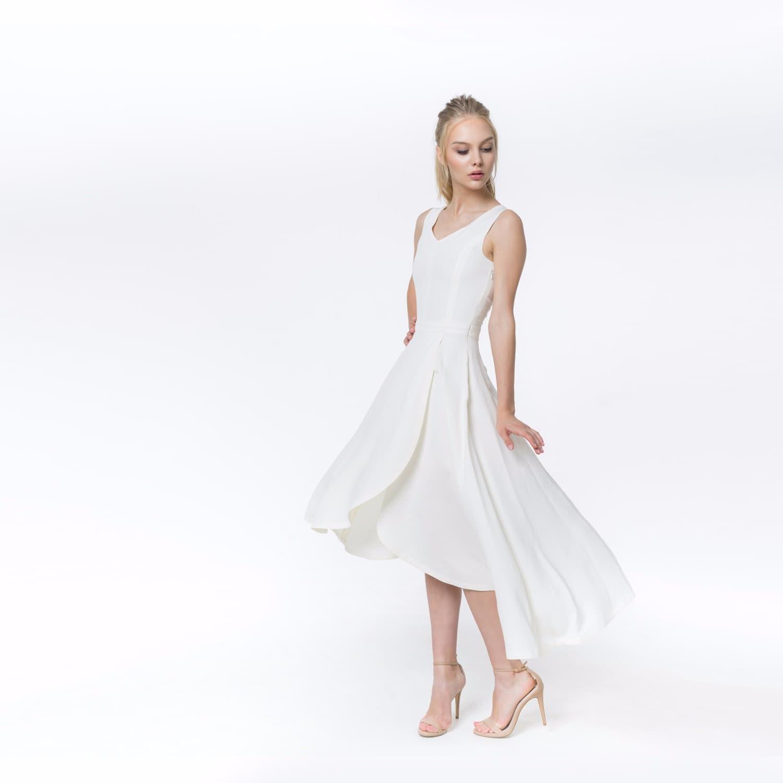 Daisy White Silk Dress | Shopyte | Wolf & Badger