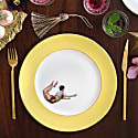 Yellow Trapeze Boy Dinner Plate image