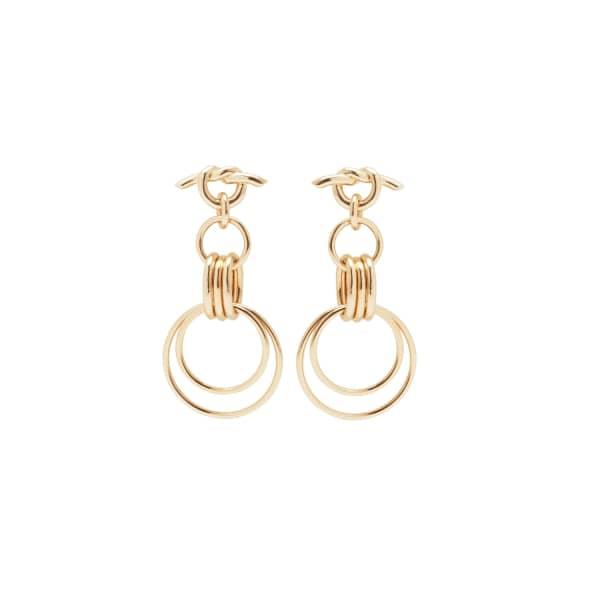 ESHVI Hula Hoops Pair Earrings