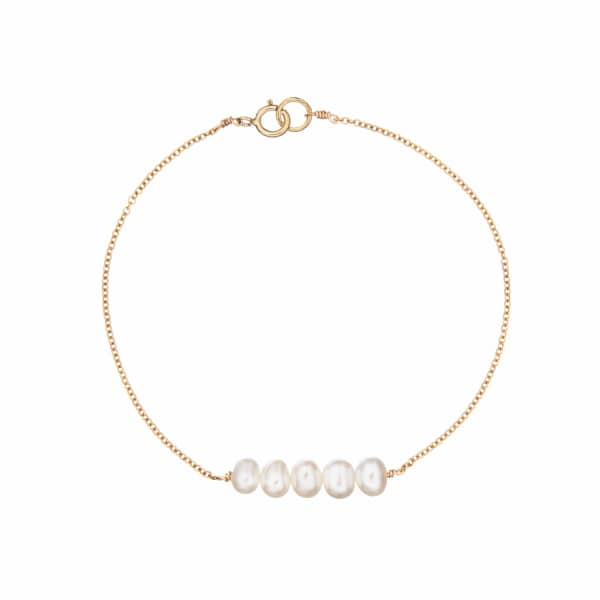 LILY & ROO Gold Cluster Pearl Bracelet