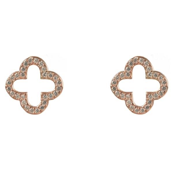 LATELITA LONDON Open Clover Earring Rose Gold