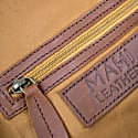 Mini Leather Harvard Satchel Messenger Bag Handbag Clutch Bag In Vintage Brown image