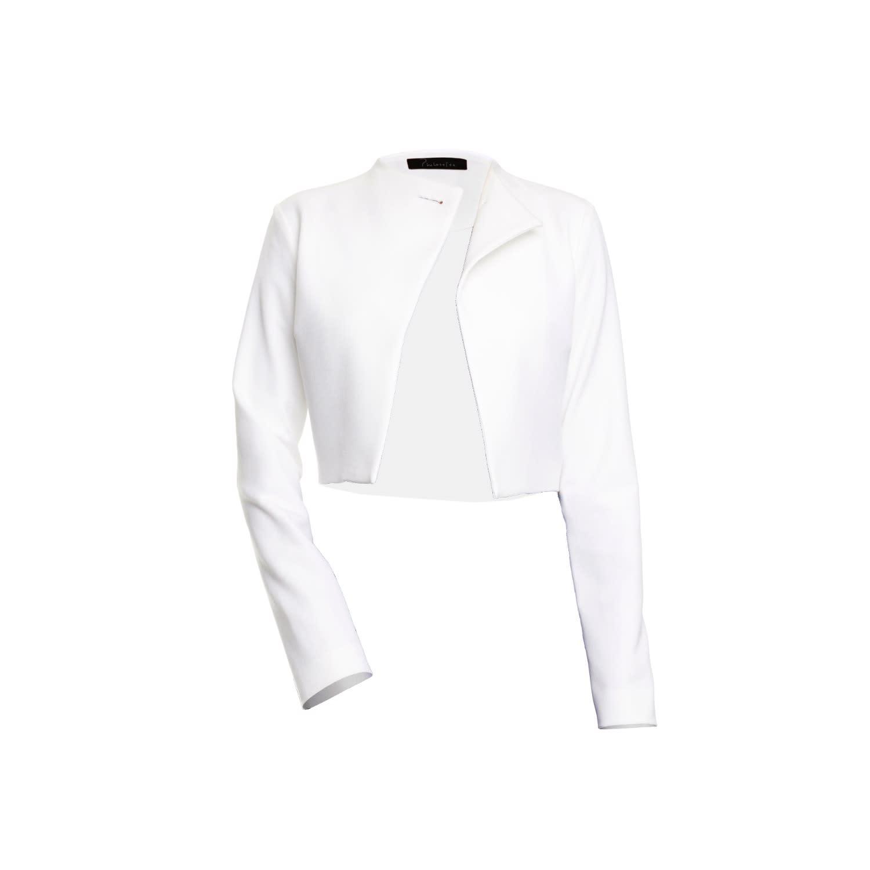 a140ccc5ae30e Off White Gabardine Cropped Jacket | Philosofée by Glaucia ...