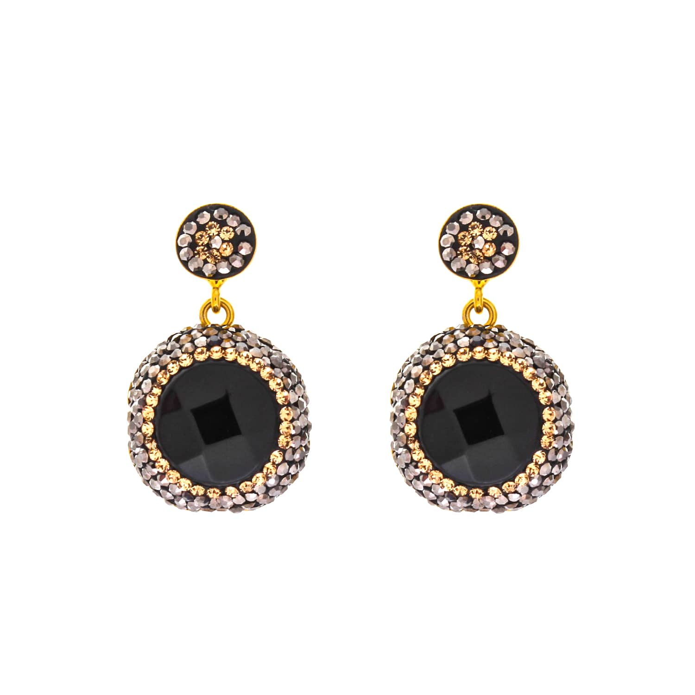 50bb3d307 Onyx Drop Earrings   Soru Jewellery   Wolf & Badger