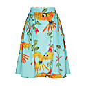 Hanna Skirt Parrots Turquoise image