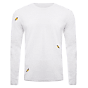 Bee Embroidered Long Sleeved Top Heather Grey Men image