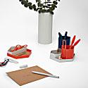 Hex Organiser - 3D Printed Desk Tidy In Primary Colors image