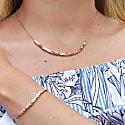 Rose Gold Cube Bracelet image
