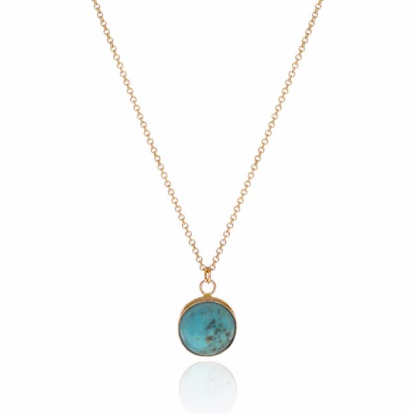 FEATHER+STONE Gold Chinese Turquoise Necklace