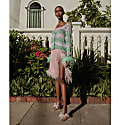 Mint Summer Handmade Knit Sweater With Pearl Buttons image