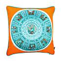 Capella Chigi Blu Silk Cushion image