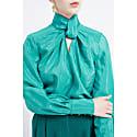 Benois Turquoise Twist Neck Blouse image
