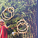Entangled Solid Gold Drop Earrings image