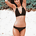 Argentina High Cut Cheeky Bikini Bottom Black image
