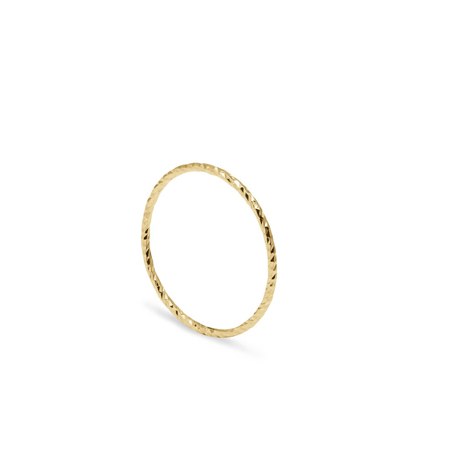 ccdcc093c1143e Gold Ultra Skinny Diamond Stacking Ring | Myia Bonner | Wolf & Badger