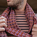Luxury Scarf In Pieds-De-Poule Pattern With A Twist Tweed Heather image