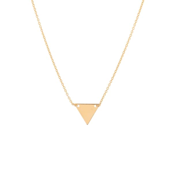 FEATHER+STONE Gold Triangle Pendant Necklace