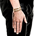 New Flat Curb Chain Bracelet Gold image