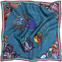 Dancing Jellyfish Turquoise Pocket Square image
