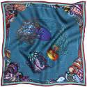 Dancing Jellyfish Turquoise Pocket Square image