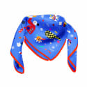 Cyclades Silk Scarf Space Blue image